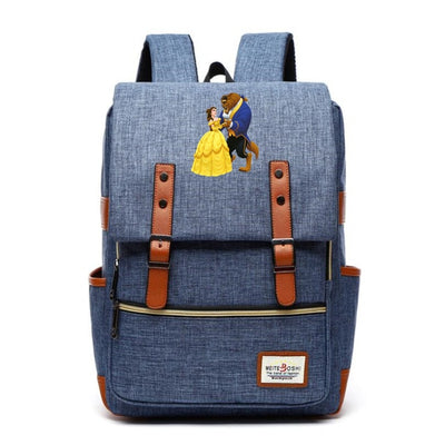 Beauty and the Beast Canvas School Backpack