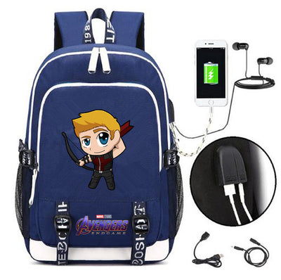 Marvel super hero Hawkeye students Backpack