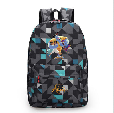 Children's Aladdin shoulder school canvas backpack