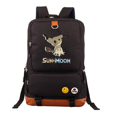 Anime Pokemon Sun and moon Mimikyu Backpack