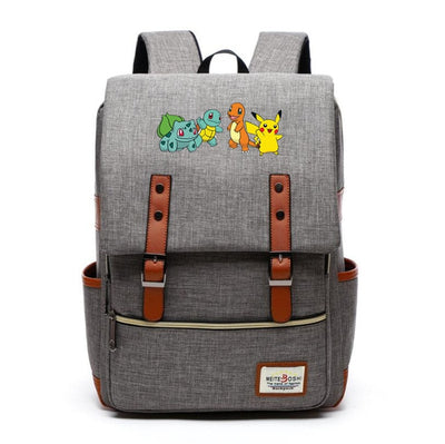 Children's Pokemon Go sun & moon Canvas Backpack