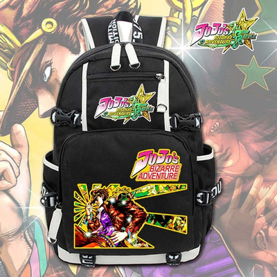 JoJo's Bizzare Adventure Higashikata Josuke Canvas School Backpack