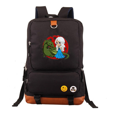 Game of Thrones house stark Knapsack Canvas Backpack