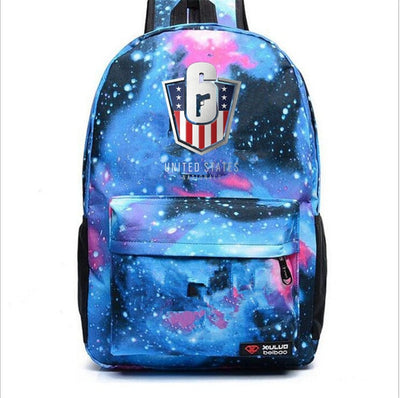 Rainbow Six Siege Casual canvas Laptop students Backpack