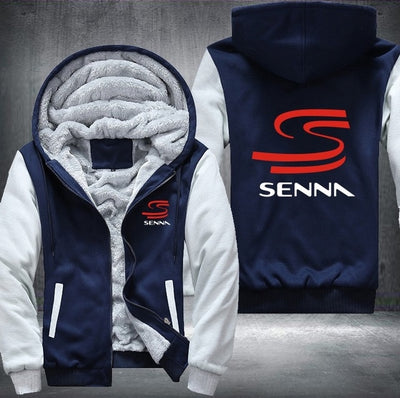 America Size SENNA Printing Pattern Thicken Fleece Zipper Hoodies
