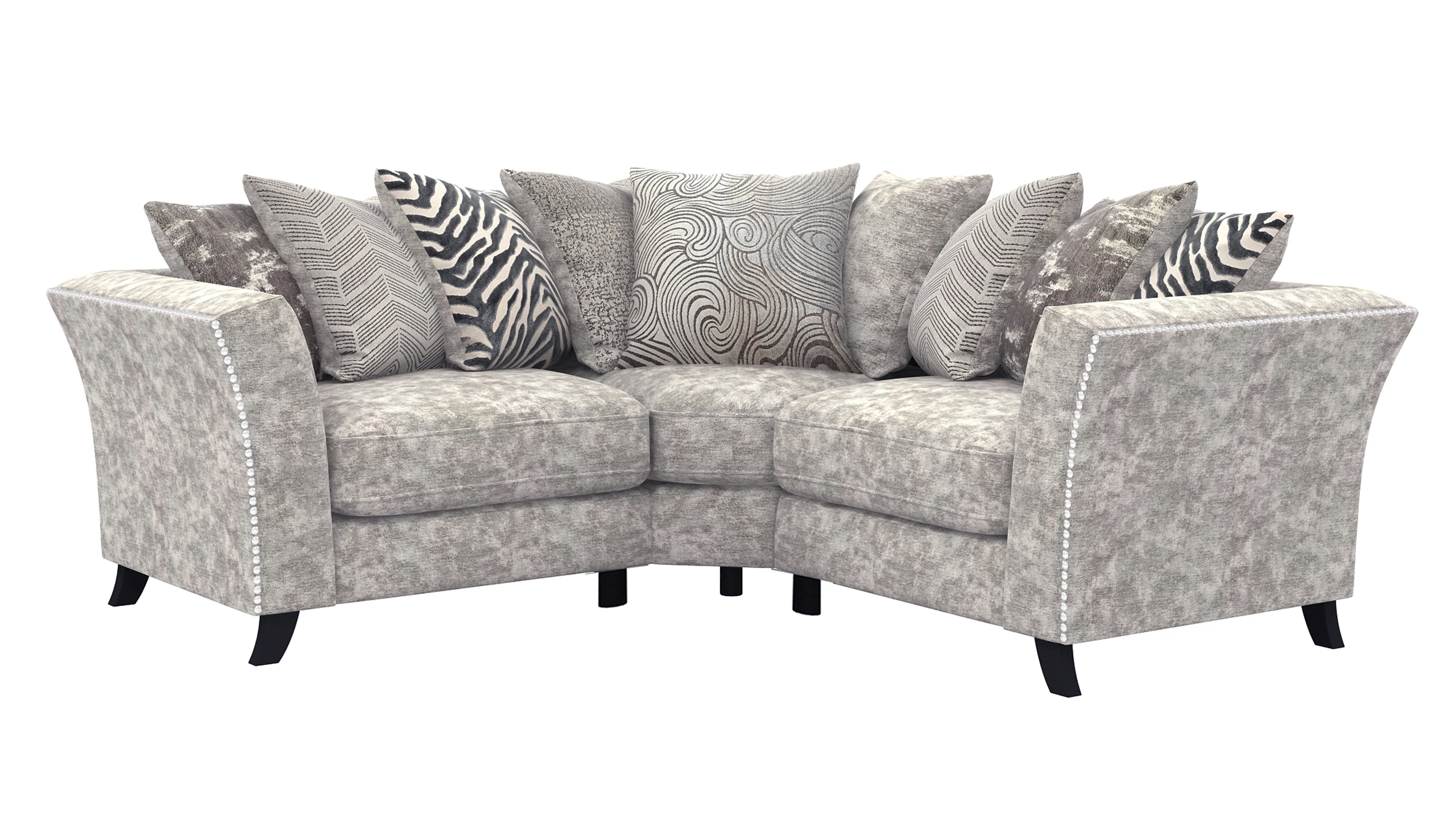 Rendezvous Small Scatter Back Corner Sofa