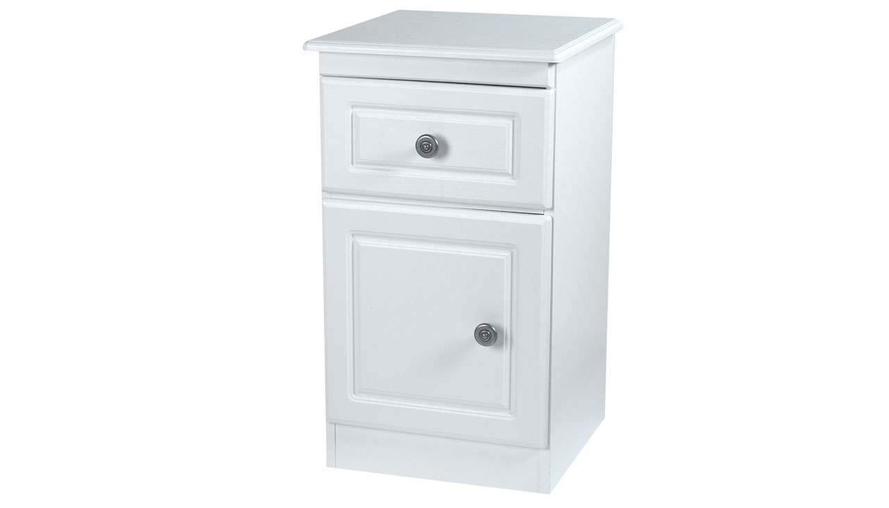 Pembroke 1 drawer bedside table - AHF Furniture & Carpets