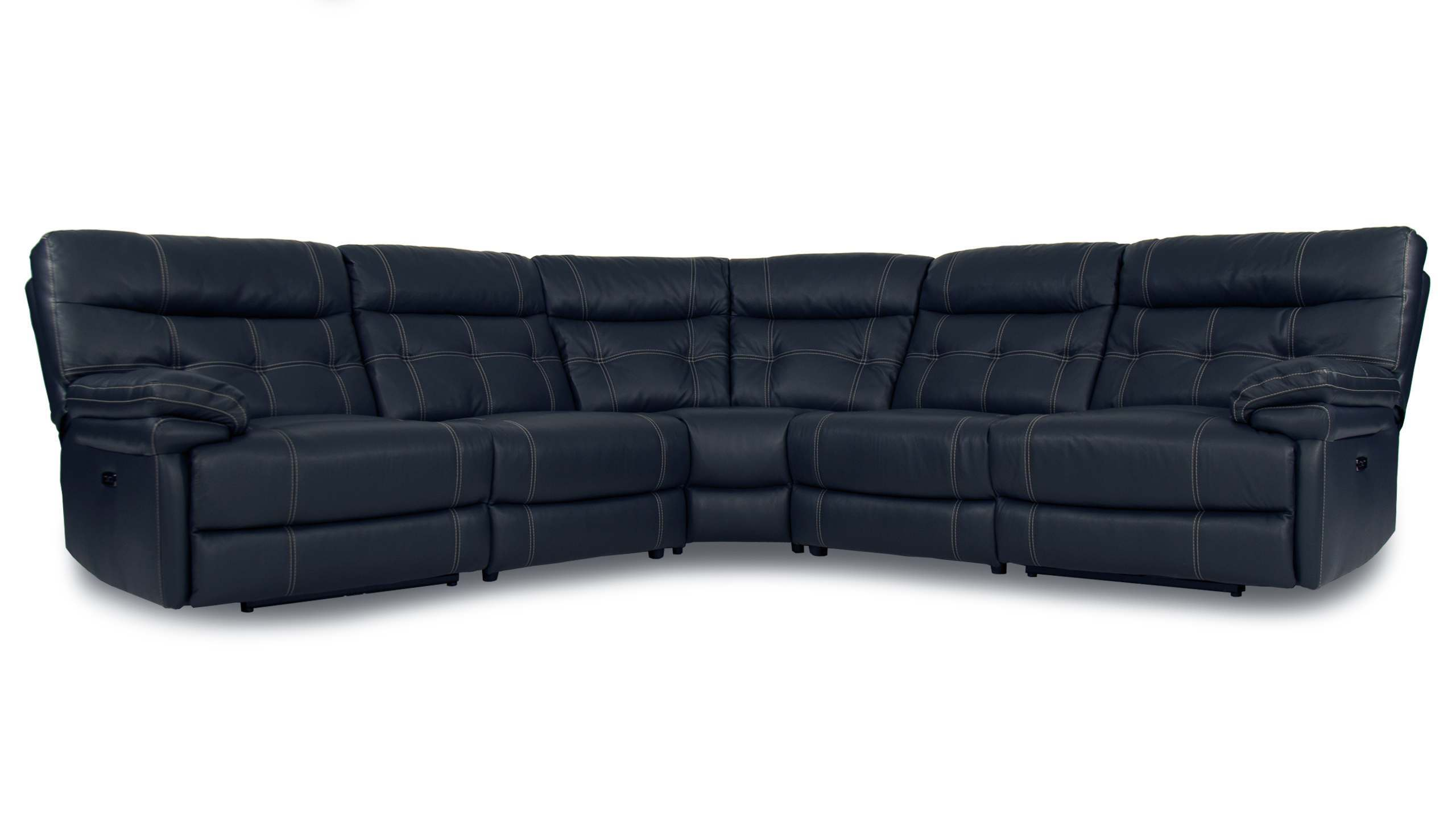 Corsica Large Power Recliner Corner Sofa with Power Headrest in Leather - AHF Furniture & Carpets