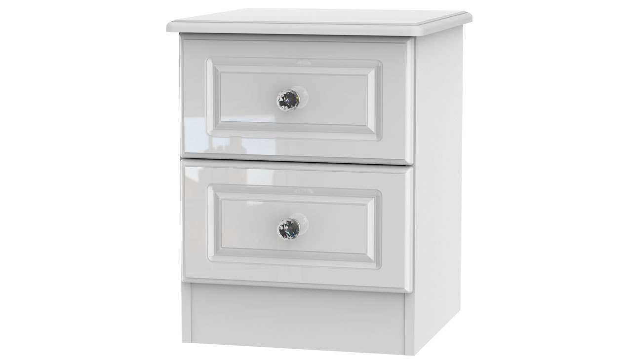 Ferndale 2 Drawer Bedside Table - AHF Furniture & Carpets