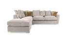 Hepburn Scatter Back Right Hand Facing Corner Sofa with Stool