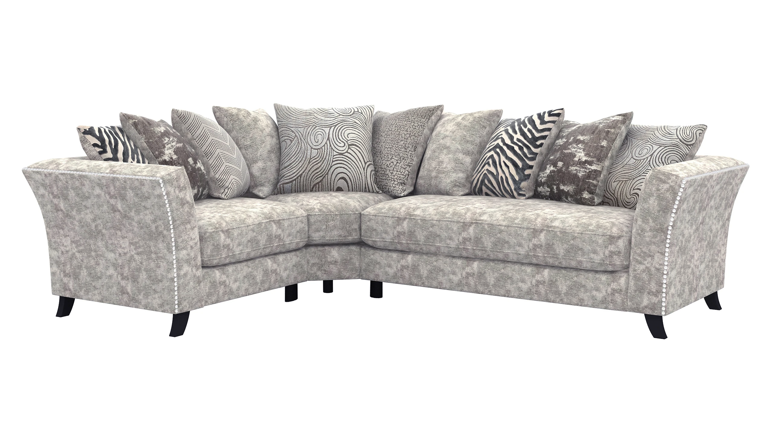 Rendezvous Right Hand Facing Scatter Back Corner Sofa