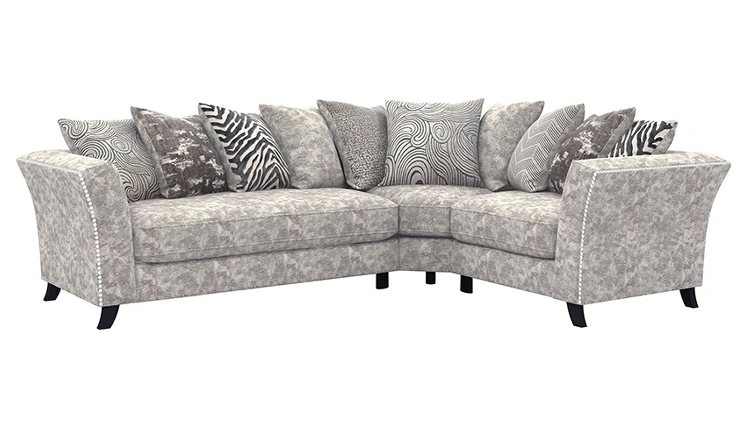 Rendezvous Left Hand Facing Scatter Back Corner Sofa