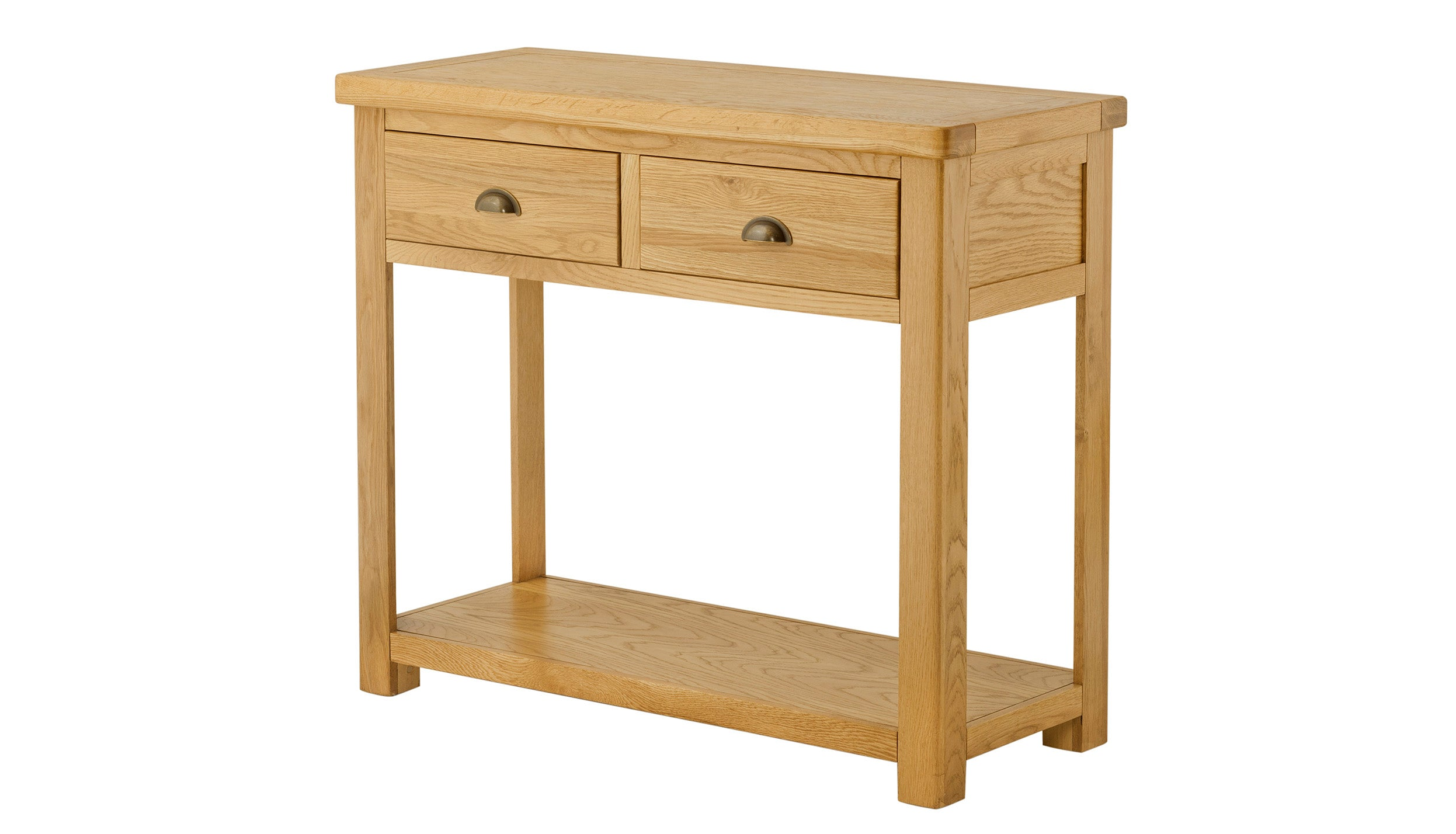 Arlington Oak 2 Drawer Console Table