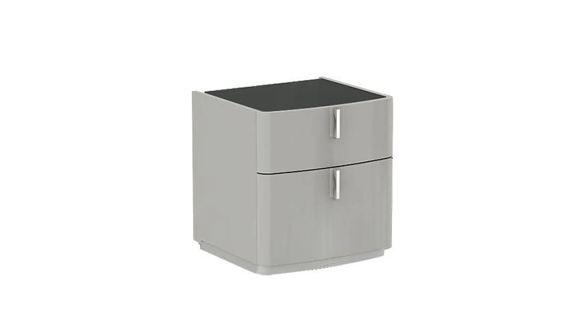 Kiera 2 Drawer Nightstand with Glass Top