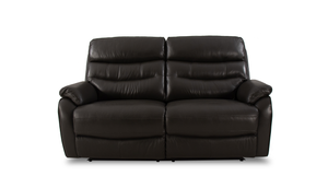 James 2 Seater Power Recliner Sofa with Power Headrests in Leather
