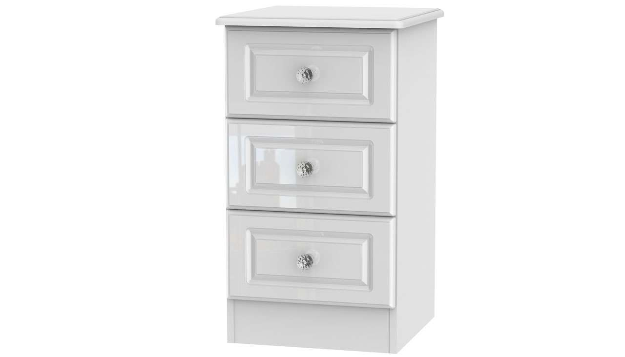 Ferndale 3 Drawer Bedside Table - AHF Furniture & Carpets