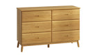 Copenhagen 6 Drawer Wide Chest