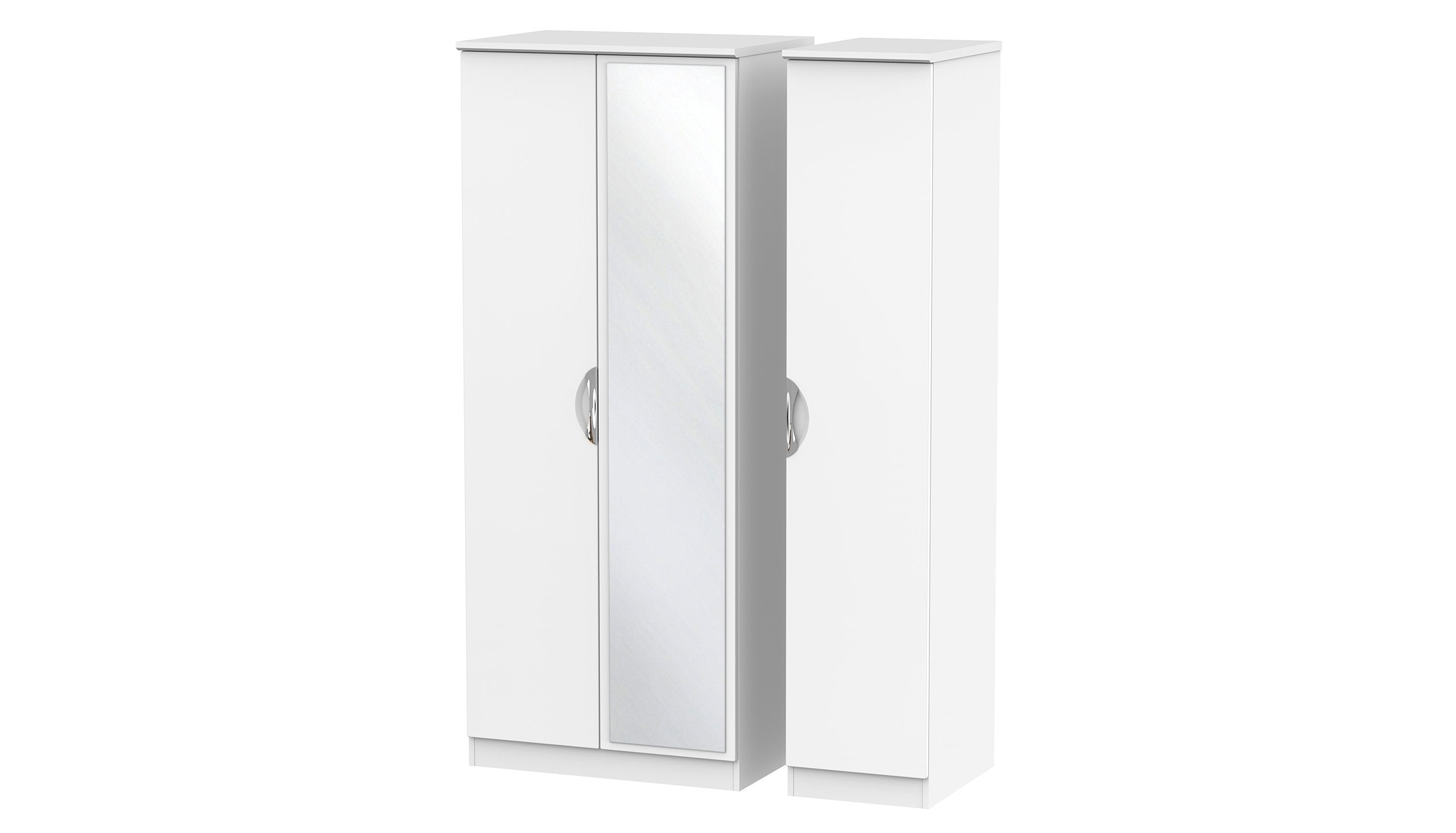 Moda 3 Door 1 Mirror Wardrobe - AHF Furniture & Carpets