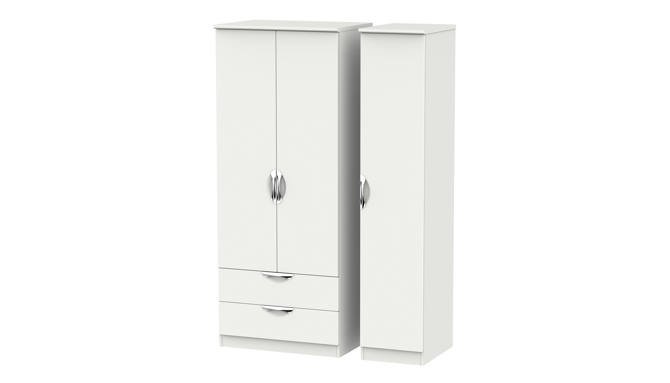 Moda 3 Door 2 Drawer Wardrobe - AHF Furniture & Carpets