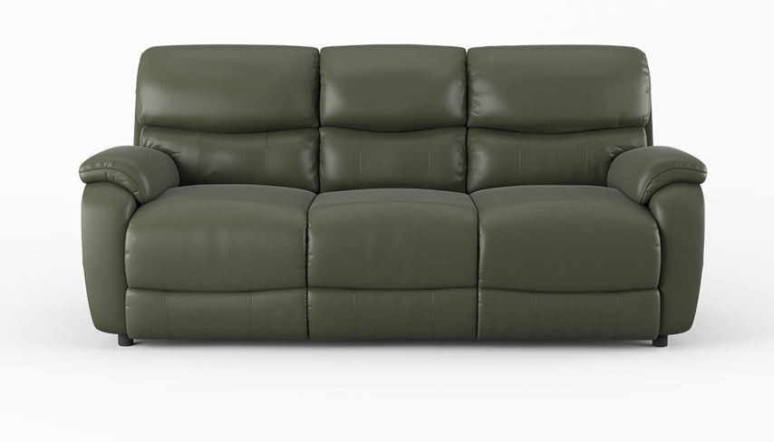 Evelyn 3 Seater Power Recliner Sofa in leather