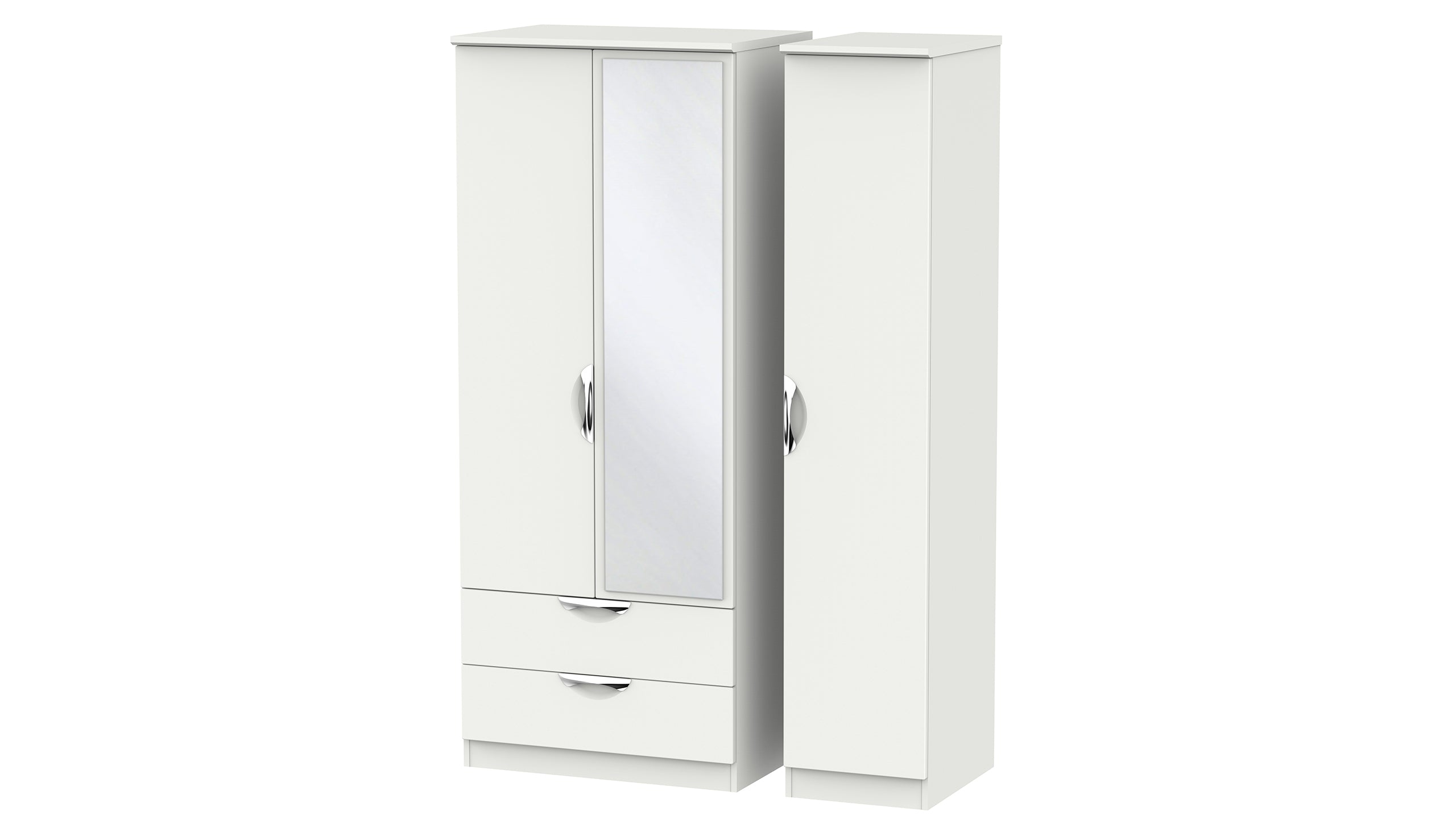 Moda 3 Door 2 Drawer 1 Mirror Wardrobe - AHF Furniture & Carpets
