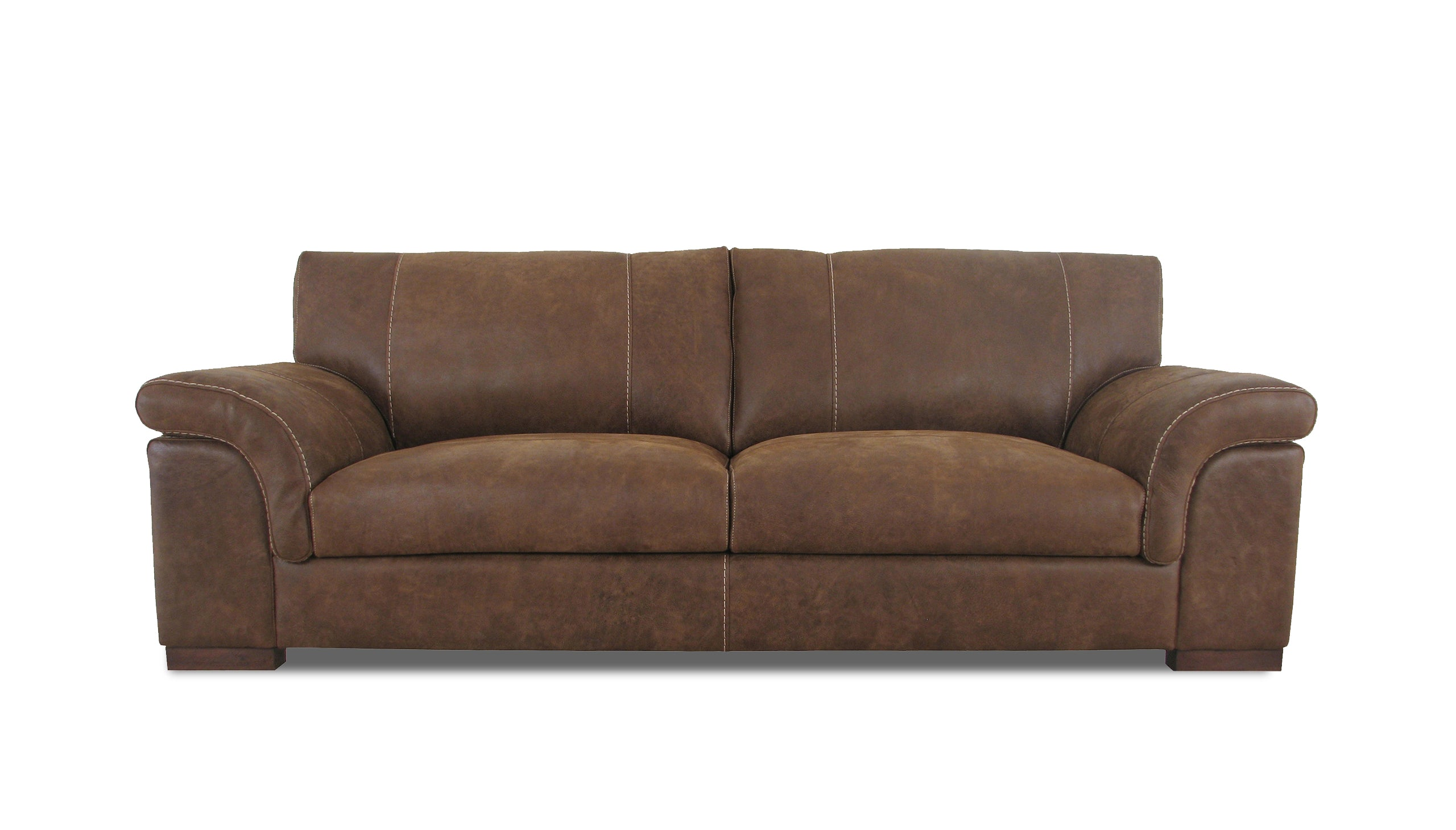 Guy 4 Seater Sofa in Leather - AHF Furniture & Carpets