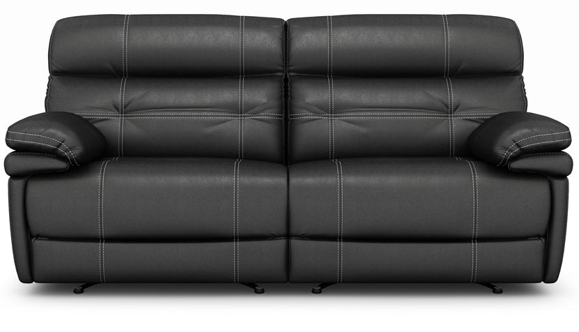 Corsica 3 Seater Power Recliner Sofa with Power Headrest in Leather