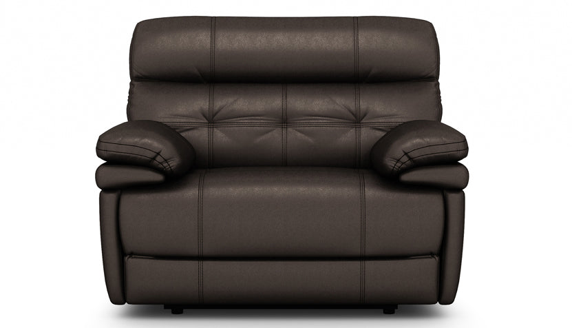 Corsica Recliner Love Seat with Adjustable Headrest in Leather