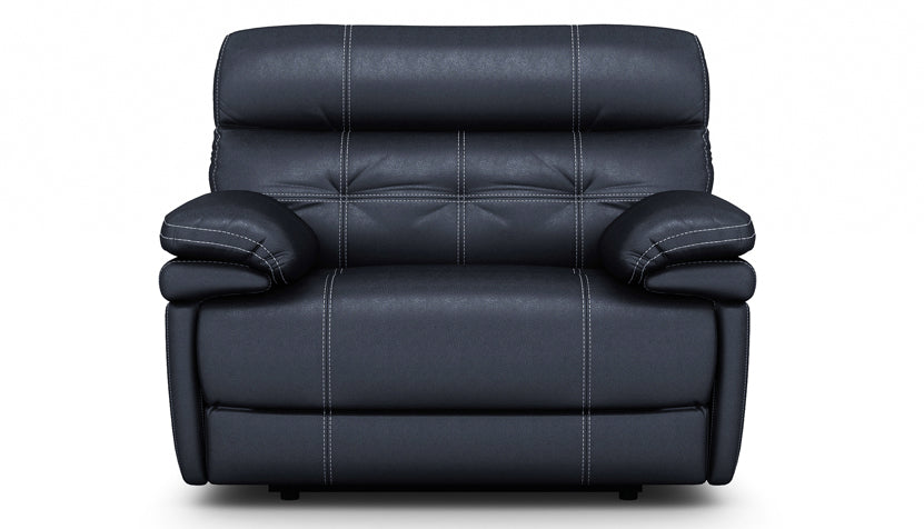 Corsica Power Recliner Love Seat with Power Headrest in Leather