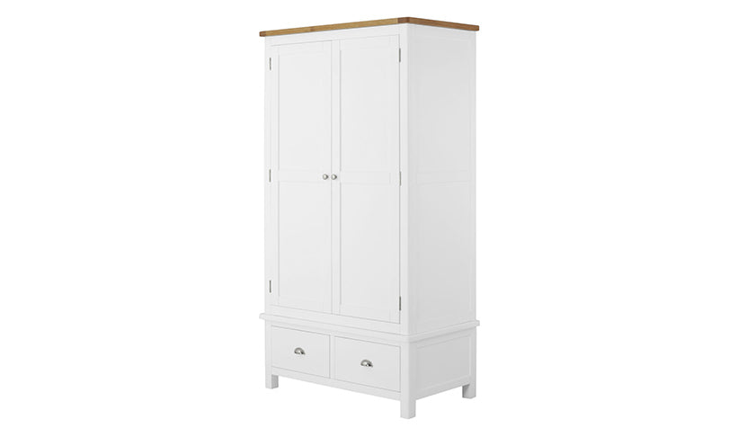 Arlington Two Tone Gents Wardrobe - AHF Furniture & Carpets