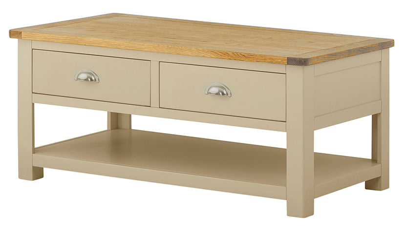 Arlington Two Tone Coffee Table with Drawers