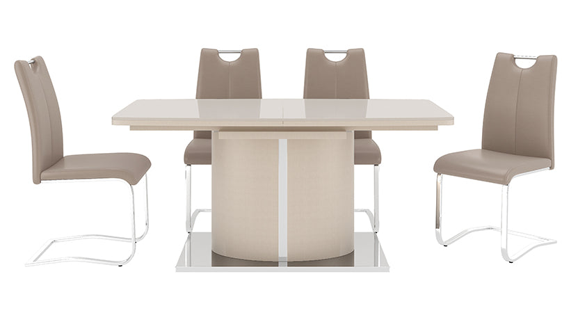 Osaka Cream Extending Dining Table with 4 Chairs