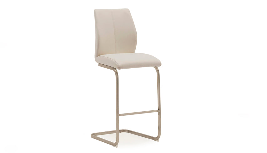 Stockholm Bar Stool with Brushed Steel Legs
