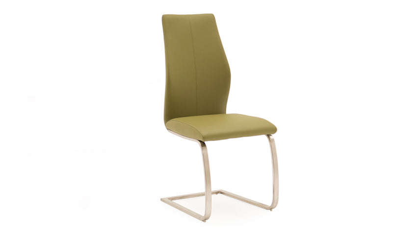 Stockholm Dining Chair with Brushed Steel Legs