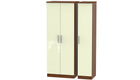 Burnham Tall 3 Door Wardrobe - AHF Furniture & Carpets