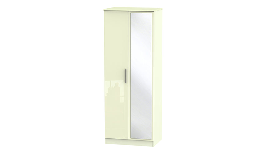 Burnham Tall Double Wardrobe with Mirrors