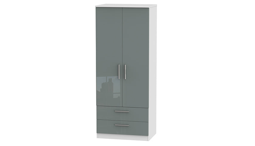 Burnham double wardrobe with 2 drawers