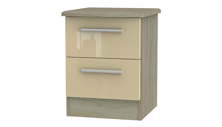 Burnham 2 drawer bedside table