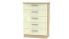 Burnham 5 drawer chest - AHF Furniture & Carpets
