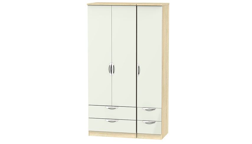 Moda Tall 3 Door 4 Drawer Wardrobe