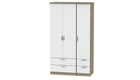 Moda Tall 3 Door 4 Drawer Wardrobe - AHF Furniture & Carpets
