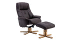 Dubai Swivel Chair and Stool - AHF Furniture & Carpets