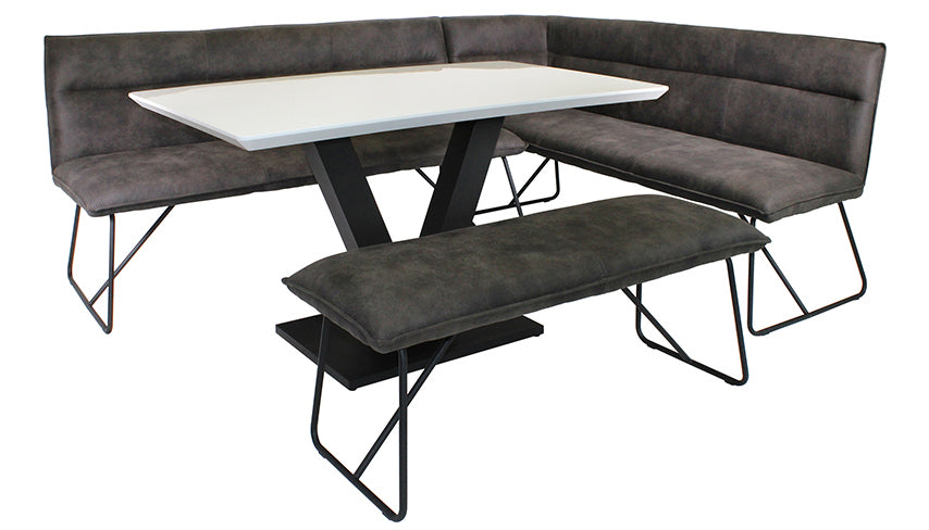 Metro Left Hand Facing Corner Bench and Dining Table Set