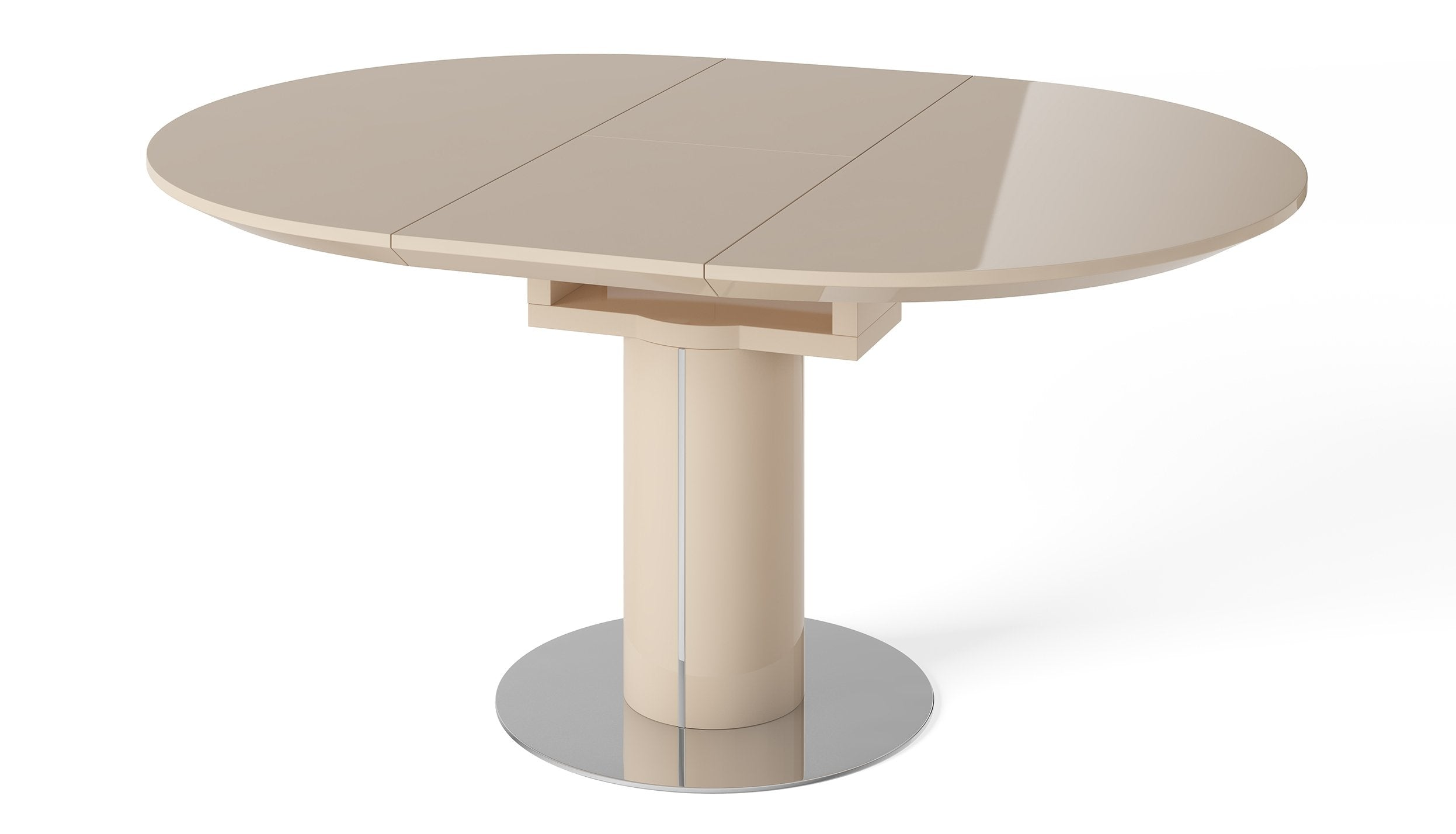 Kyoto Cream Round Extending Dining Table - AHF Furniture & Carpets