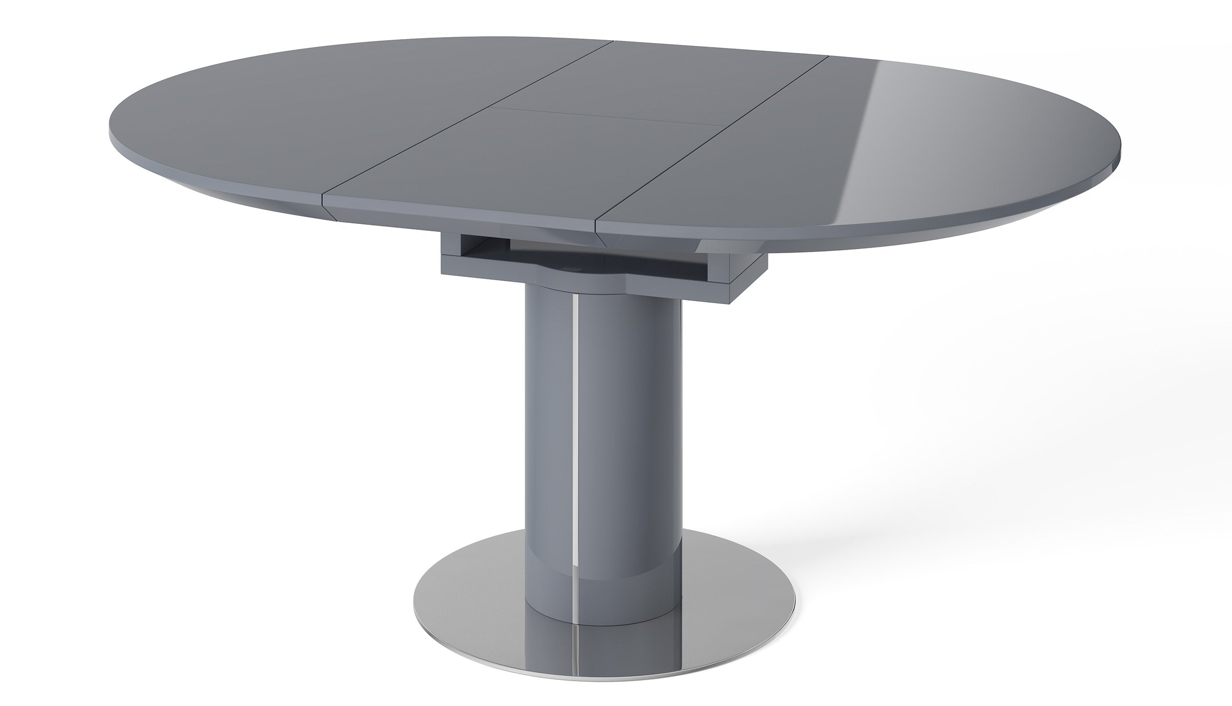 Kyoto Grey Round Extending Dining Table - AHF Furniture & Carpets