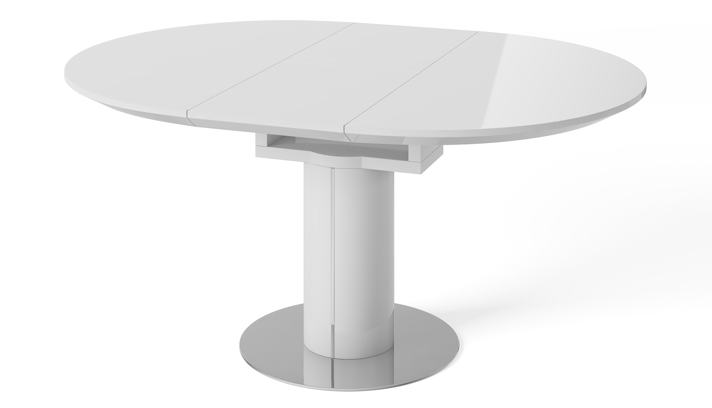 Kyoto White Round Extending Dining Table - AHF Furniture & Carpets