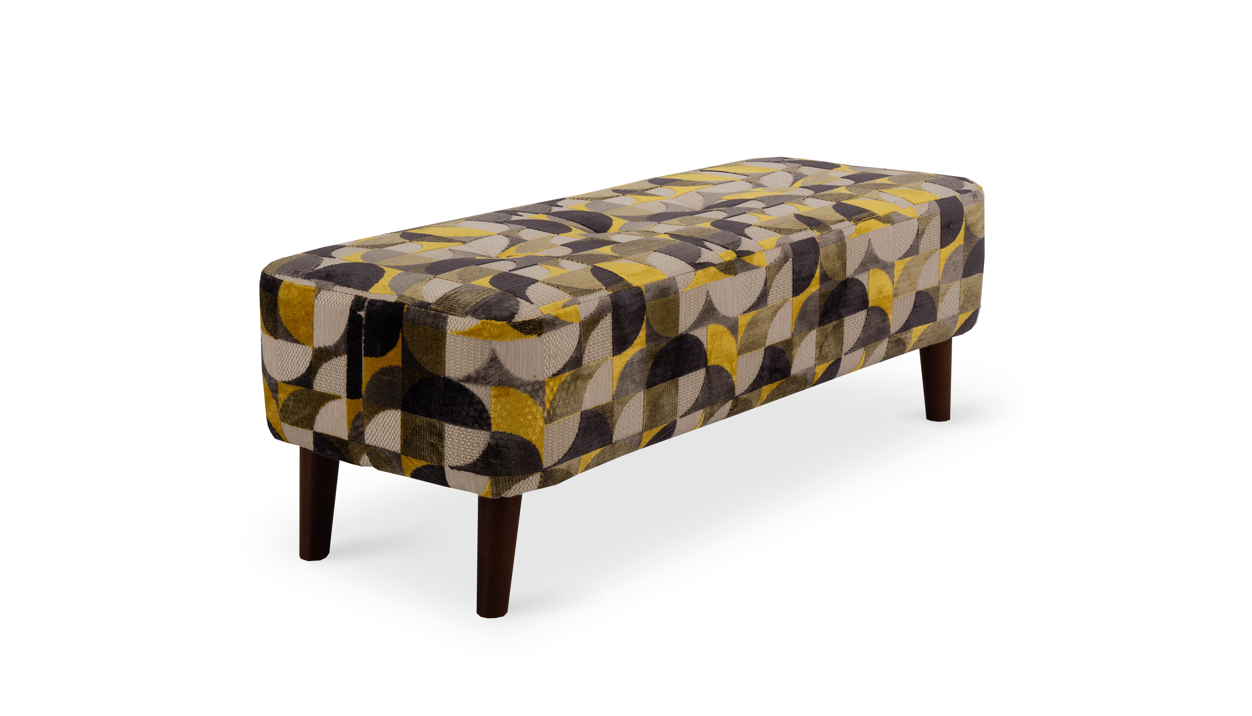 Farrah Pattern Bench Footstool