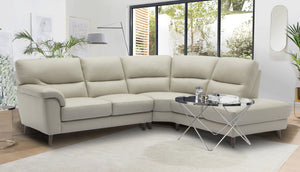 Aiden Left Hand Facing Large Corner Chaise Sofa in Leather