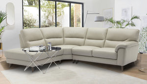 Aiden Right Hand Facing Large Corner Chaise Sofa in Leather