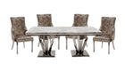 Amour 2m Marble Dining Table with 4 Chairs